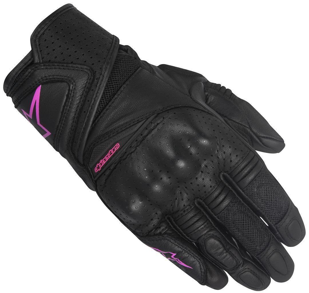 Alpinestars Stella Baika Ladies Motorcycle Gloves Black Purple XS
