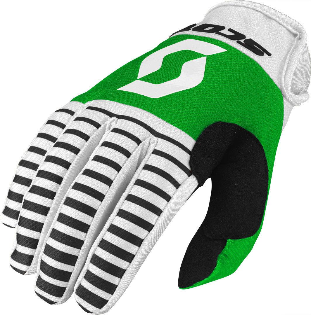 Scott 350 Track Motocross Gloves 2017 Black White XL