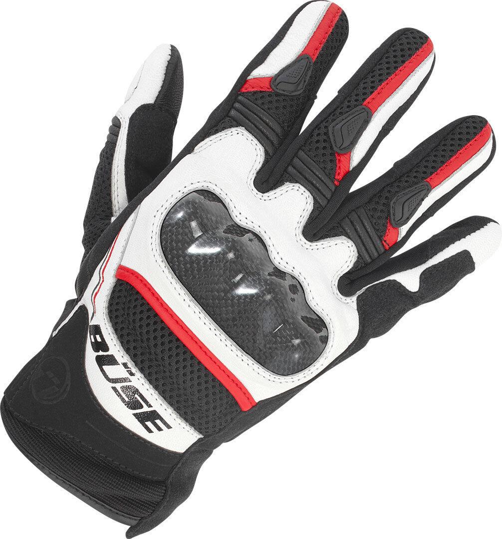 Büse Safe Ride Gloves Black White Red 4XL