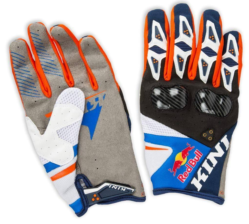 Kini Red Bull Competition Rallye Gloves White Red Blue M