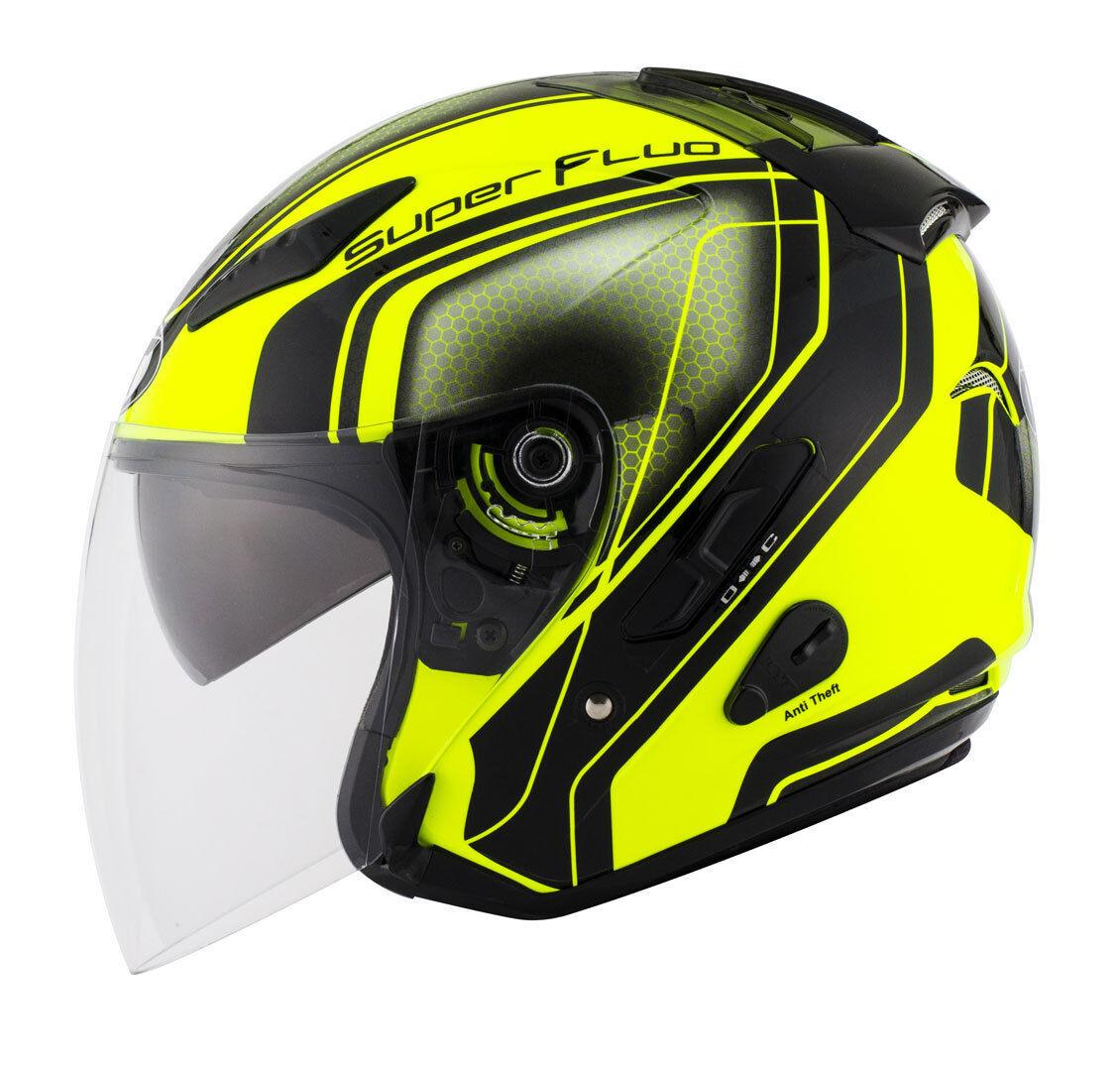 KYT Hellcat Superfluo Jet Helmet  - Size: Large