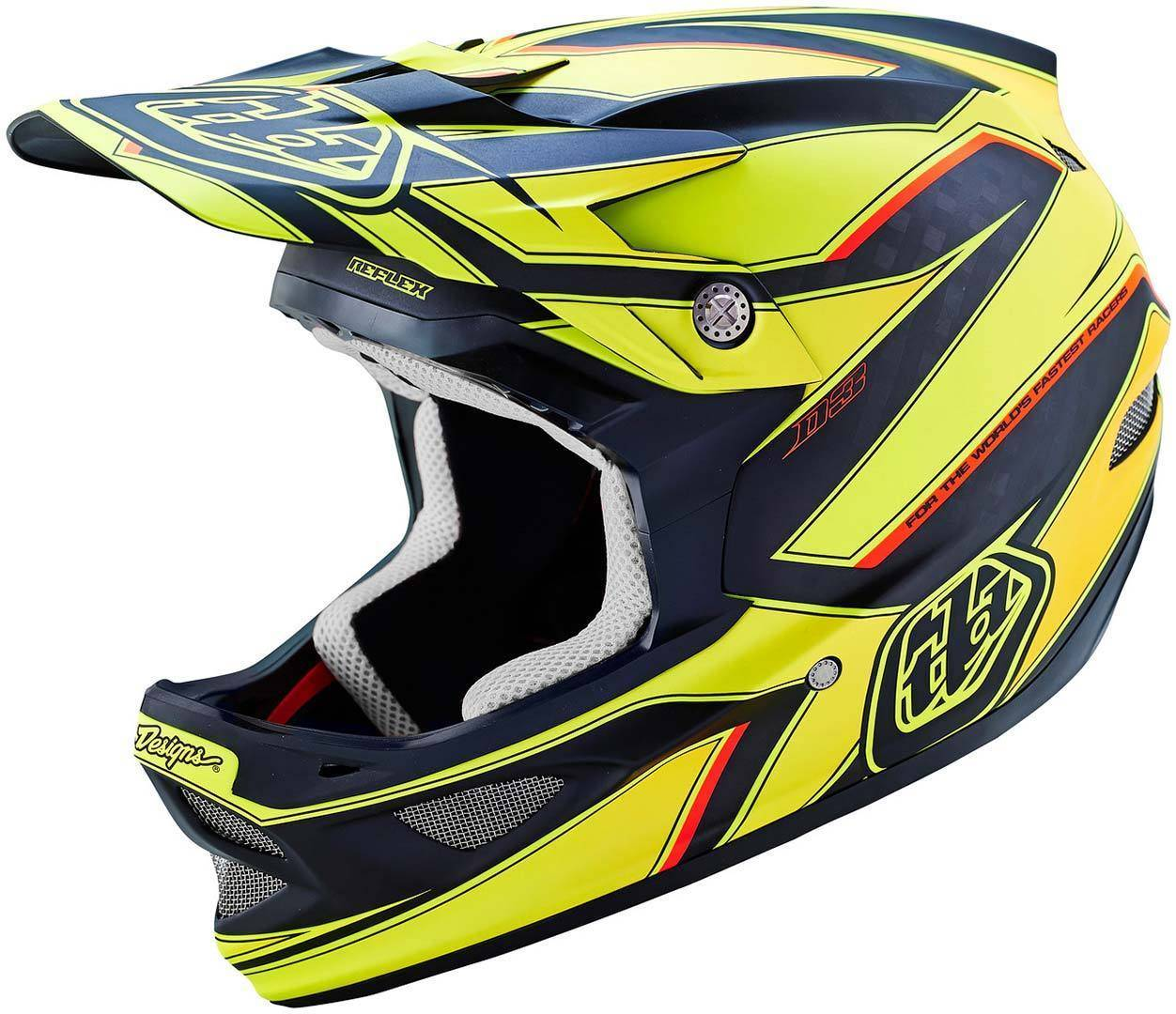 Lee Troy Lee Designs D3 Reflex Yellow Helmet  - Size: Extra Small