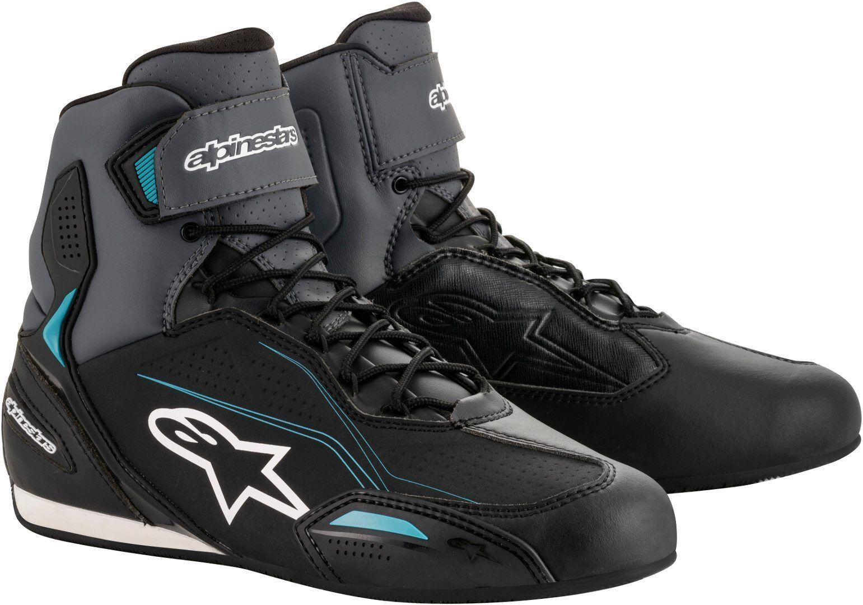 Alpinestars Stella Faster-3 Ladies Motorcycle Shoes Black Grey Blue 40