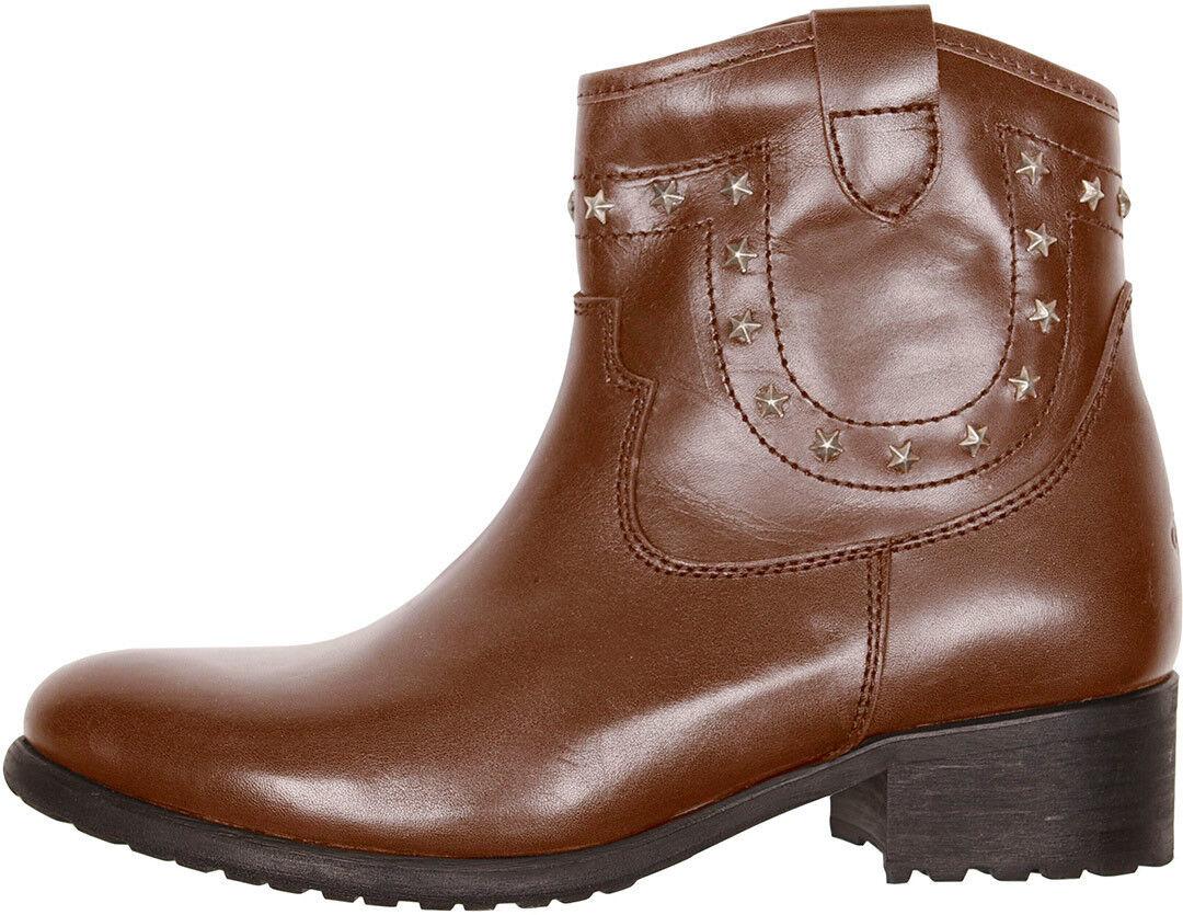 Helstons Texas Ladies Ladies Motorcycle Boots Brown 38