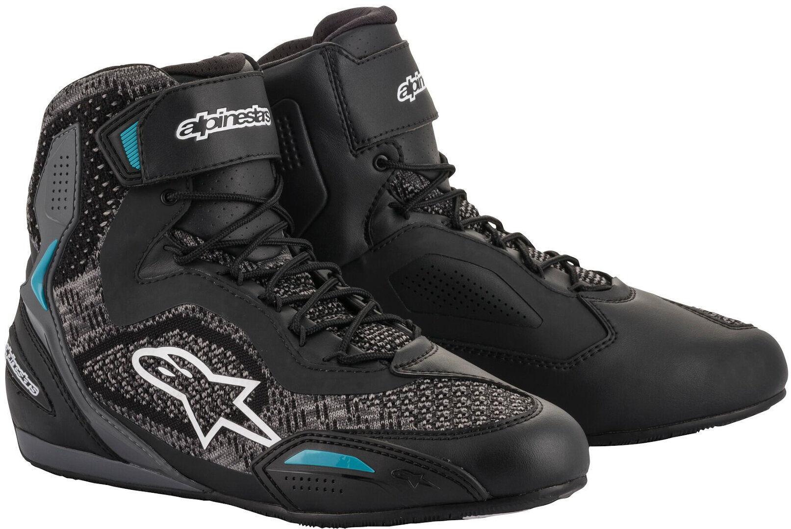 Alpinestars Stella Faster-3 Rideknit Ladies Motorcycle Shoes Black White Blue 43