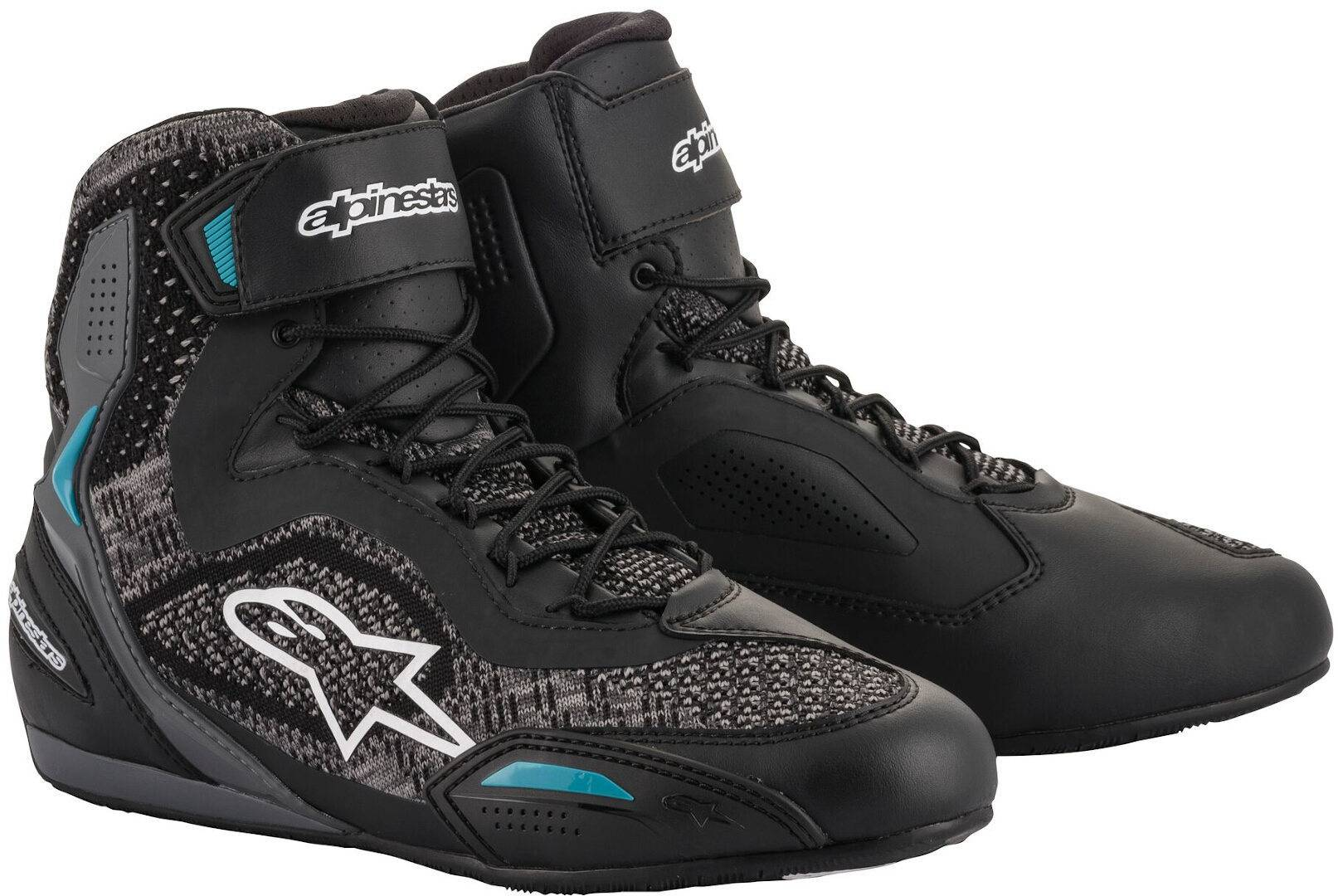 Alpinestars Stella Faster-3 Rideknit Ladies Motorcycle Shoes Black White Blue 38 39