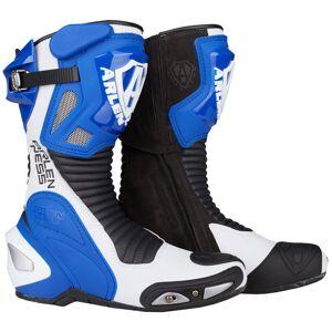 Arlen Ness Pro Shift Motorcycle Boots Black White Blue 42