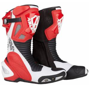 Arlen Ness Pro Shift Motorcycle Boots Black White Red 38