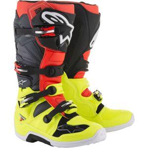 Alpinestars Tech 7 Boot Motocross Boots Black Red Yellow 47