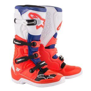 Alpinestars Tech 5 Motocross Boots Red Blue 48