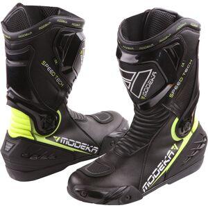 Modeka Speed Tech Motorcycle Boots Black Yellow 44