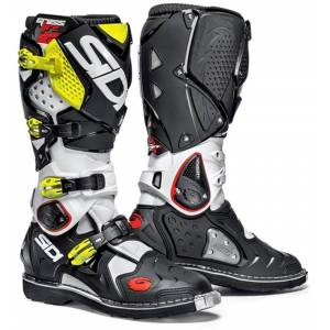 Sidi Crossfire 2 2016 Motocross Boots Black White Yellow 48