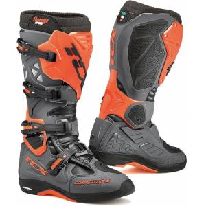 TCX Comp Evo Michelin Motocross Boots Grey Orange 42