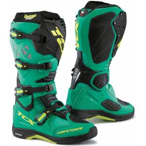 TCX Comp Evo Michelin Motocross Boots Green Yellow 40