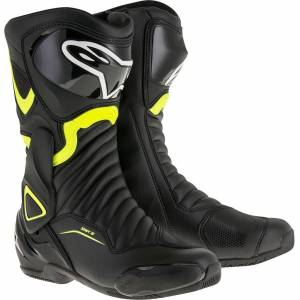 Alpinestars SMX-6 V2 Motorcycle Boots Black Yellow 43