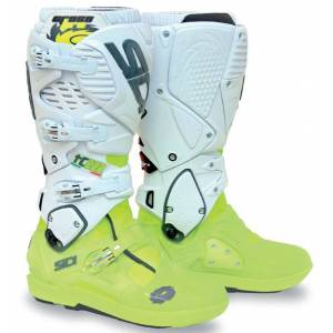 Sidi Crossfire 3 SRS Motocross Boots White Yellow 43