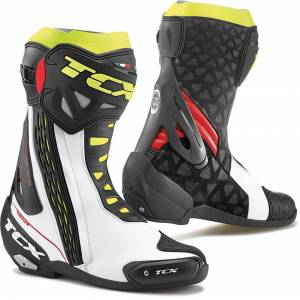 TCX RT-Race Motorcycle Boots White Red Yellow 47