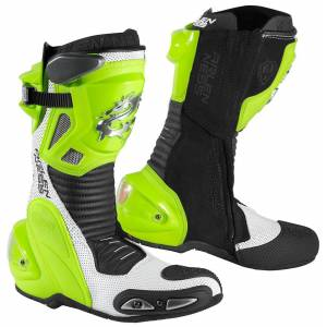 Arlen Ness Xaus-Evo D Motorcycle Boots Black Yellow 45
