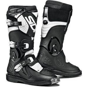 Sidi Flame Kids Motocross Boots Black White 33