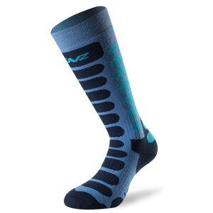 Lenz Skiing 1.0 Junior Socks Black Blue L