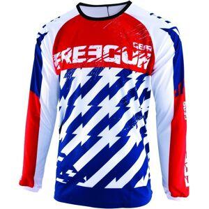 Freegun Devo Outlaw Kids Motocross Jersey White Red Blue L