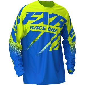 FXR Clutch Motocross Jersey Blue Yellow 2XL