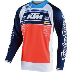 Lee Troy Lee Designs SE Pro Boldor Team Motocross Jersey White Blue Orange L