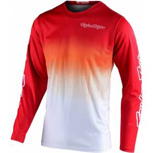 Lee Troy Lee Designs GP Stain'd Motocross Jersey White Red 2XL