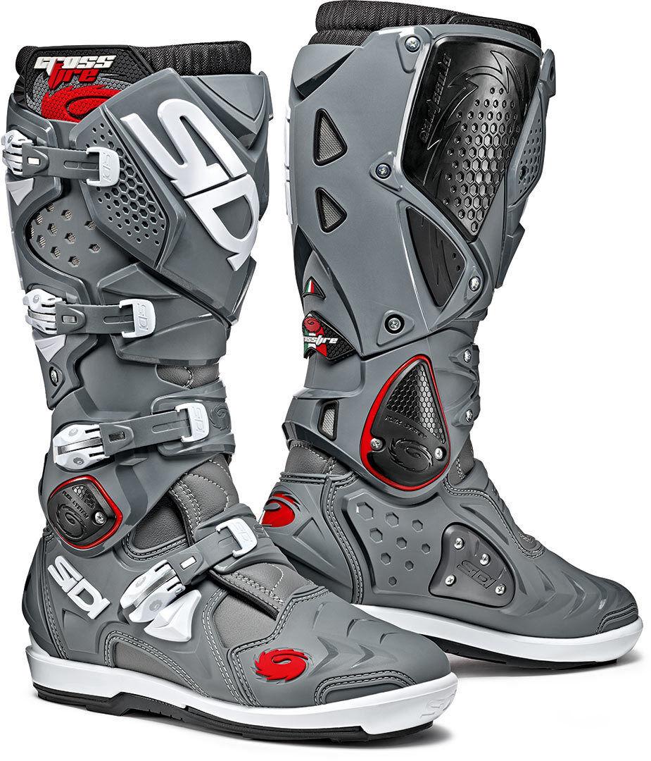 Sidi Crossfire 2 SRS Motocross Boots Black Grey 45