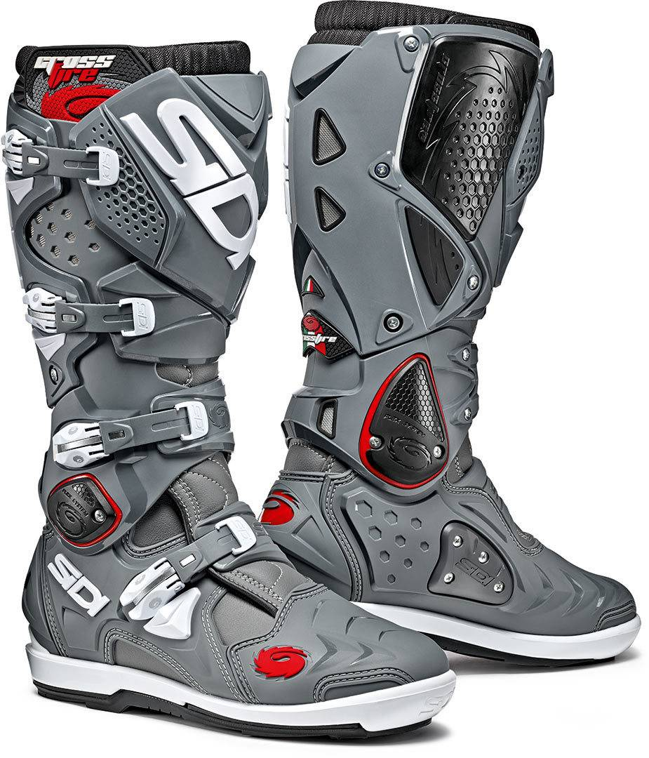 Sidi Crossfire 2 SRS Motocross Boots Black Grey 48