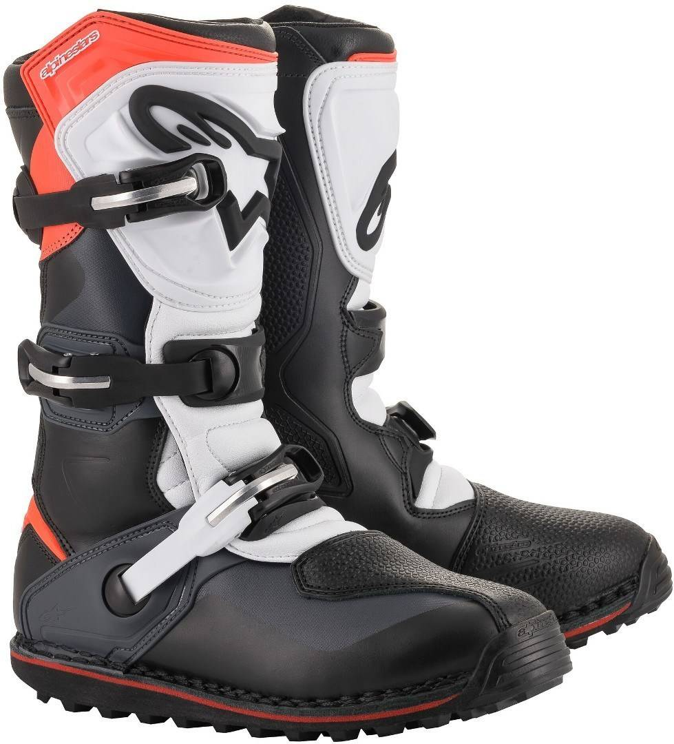 Alpinestars Tech-T Motorcycle Boots Black White Red 40 41