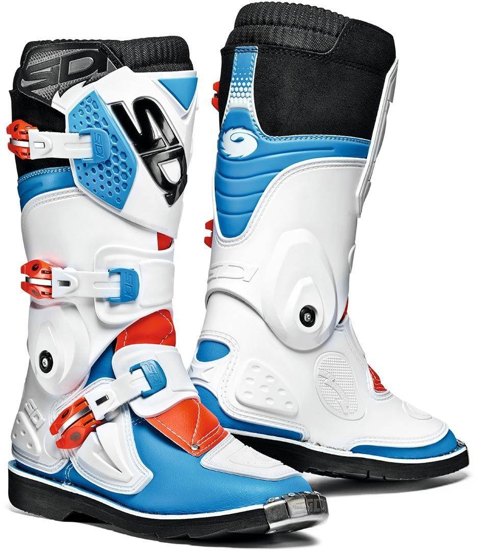 Sidi Flame Kids Motocross Boots White Red Blue 41