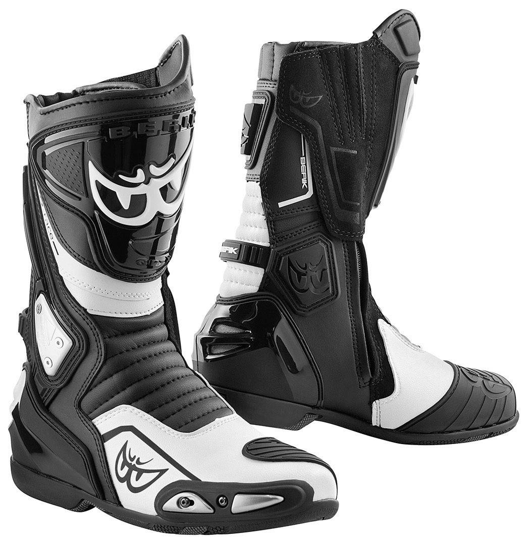 Berik Donington Motorcycle Boots Black White 48