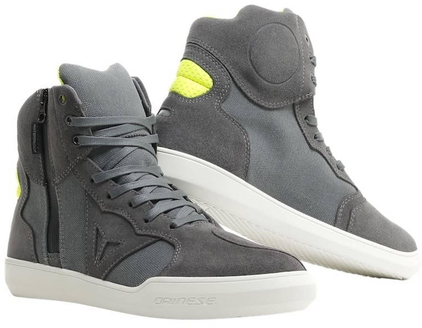 Dainese Metropolis D-WP Motorcycle Shoes Grey Yellow 45