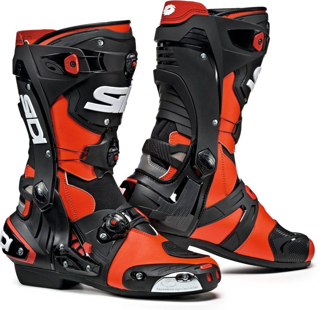 Sidi Rex Motorcycle Boots Black Red 45