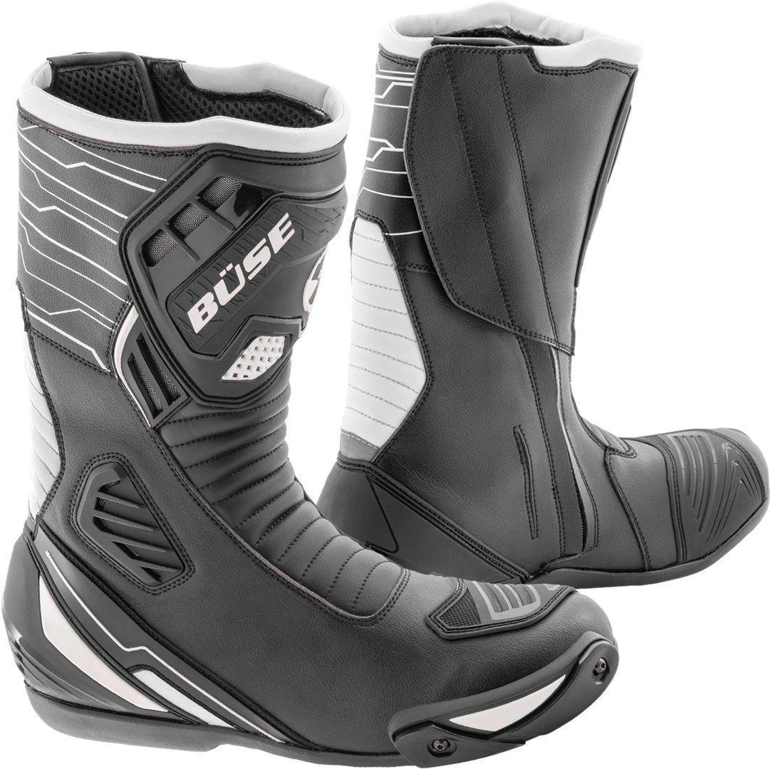 Büse Sport Evo Motorcycle Boots Black White 39
