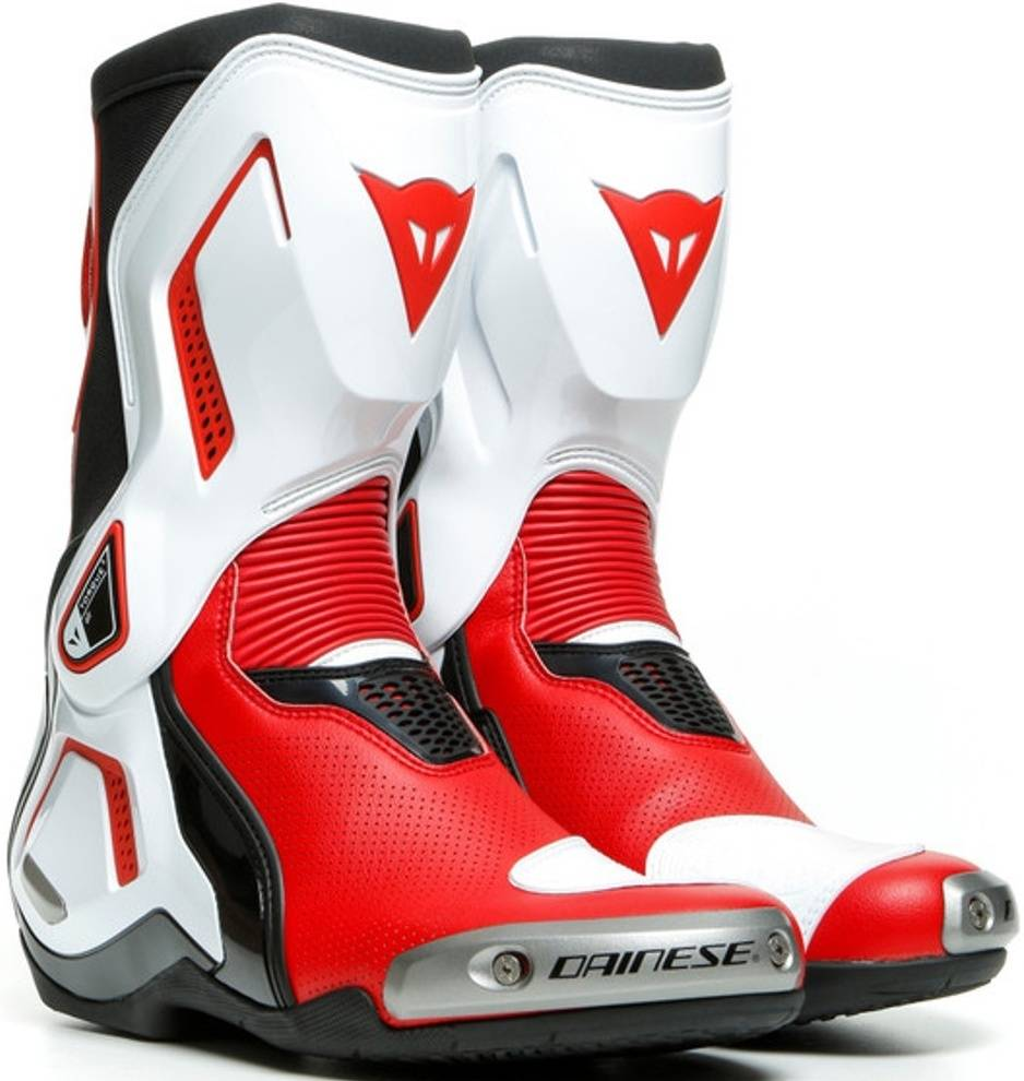 Dainese Torque 3 Out Air Motorcycle Boots Black White Red 39