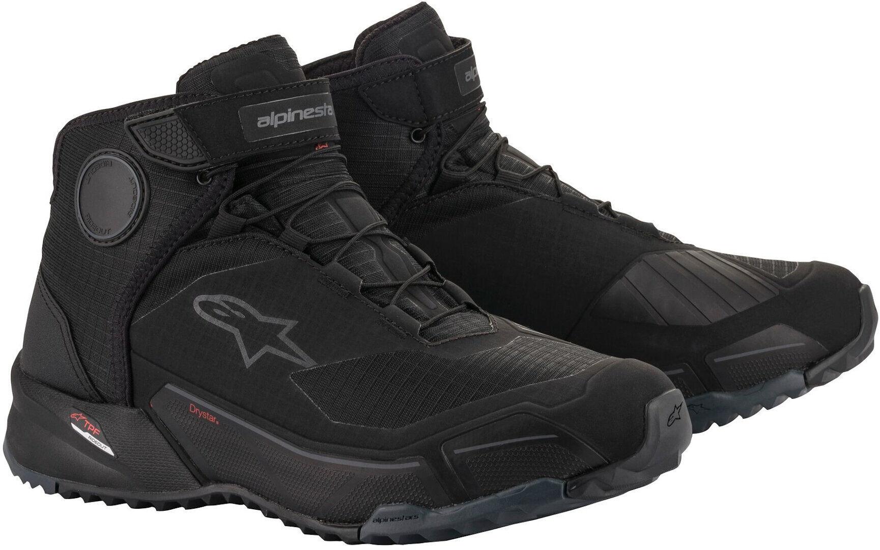 Alpinestars CR-X Drystar Motorcycle Shoes Black 48