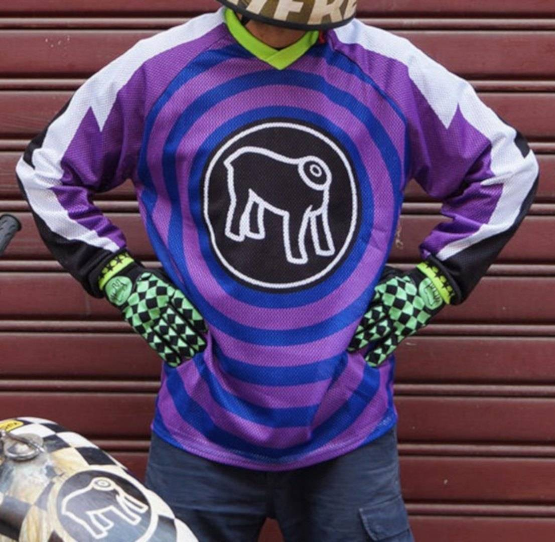 HolyFreedom Ventidue Motocross Jersey Blue Purple L