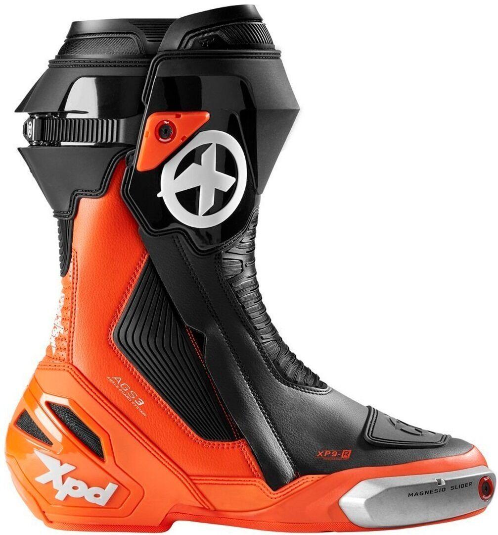 XPD XP9-R Motorcycle Boots Black Orange 42