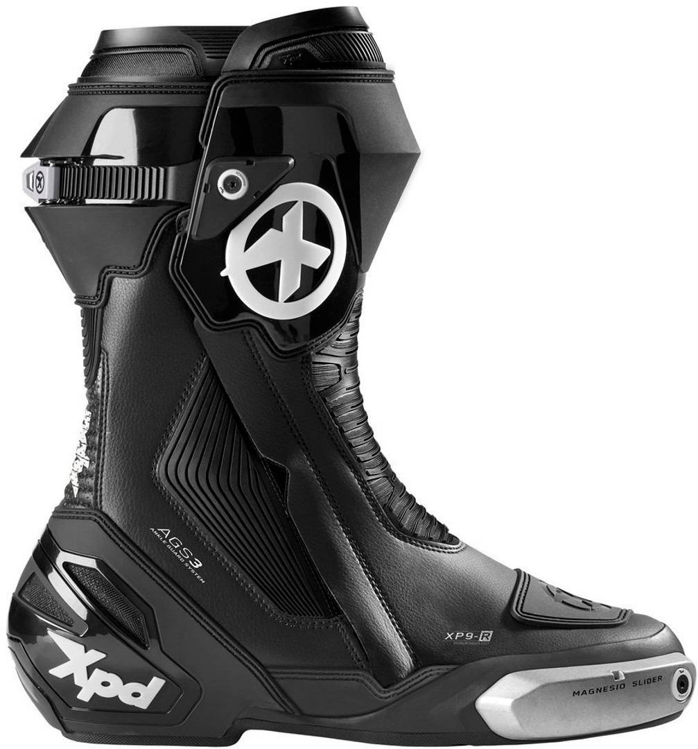 XPD XP9-R Motorcycle Boots Black White 44