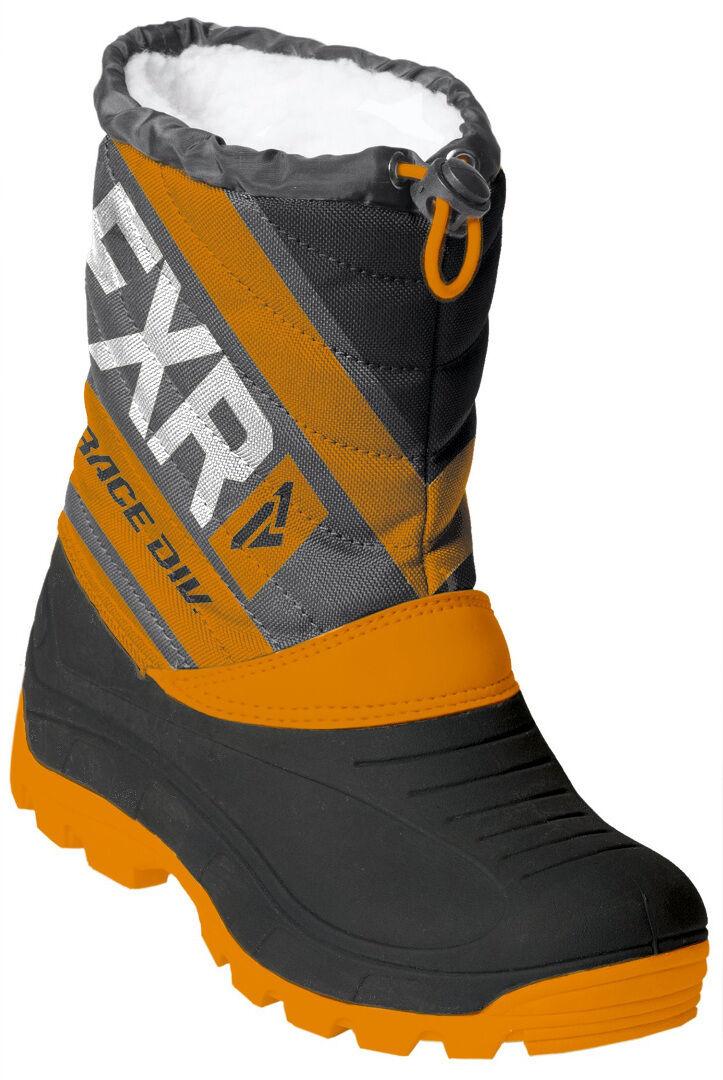 FXR Octane Youth Winter Boots Black Orange 34