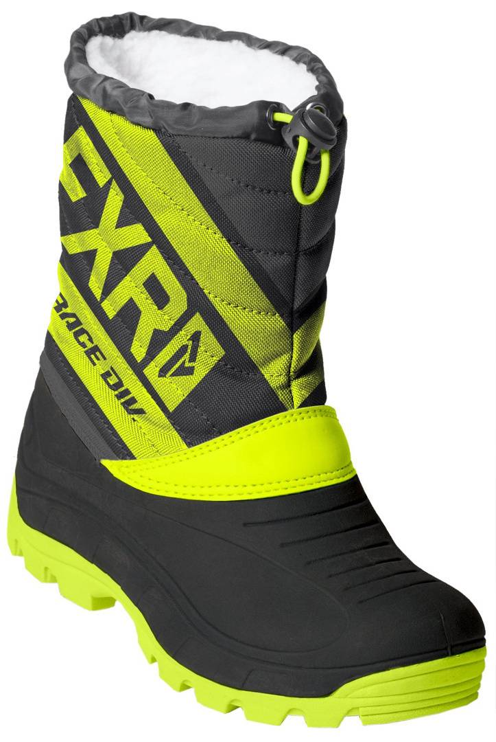 FXR Octane Youth Winter Boots Black Yellow 32