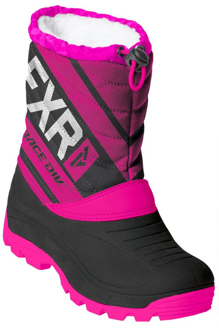FXR Octane Youth Winter Boots Black Pink 32