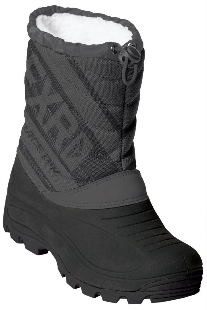 FXR Octane Kids Winter Boots Black Grey 31