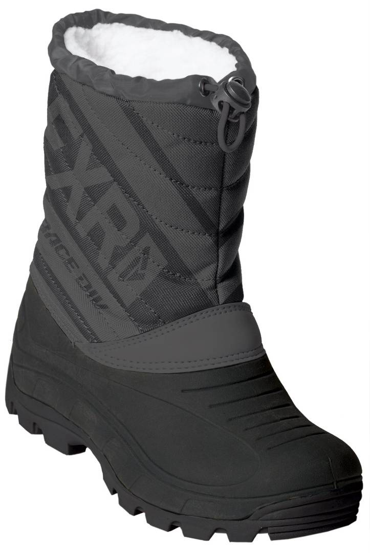 FXR Octane Kids Winter Boots Black Grey 30