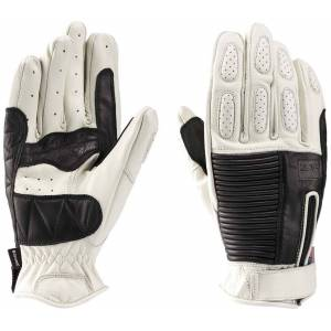Blauer Banner Motorcycle Gloves Black White 2XL