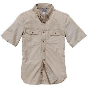 Carhartt Fort Solid Short Sleeve Shirt Brown 2XL