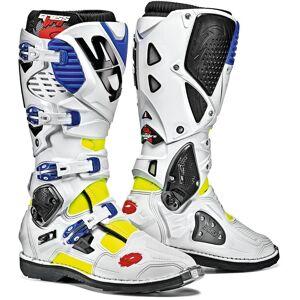 Sidi Crossfire 3 Motocross Boots White Blue 50