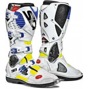 Sidi Crossfire 3 Motocross Boots White Blue 48